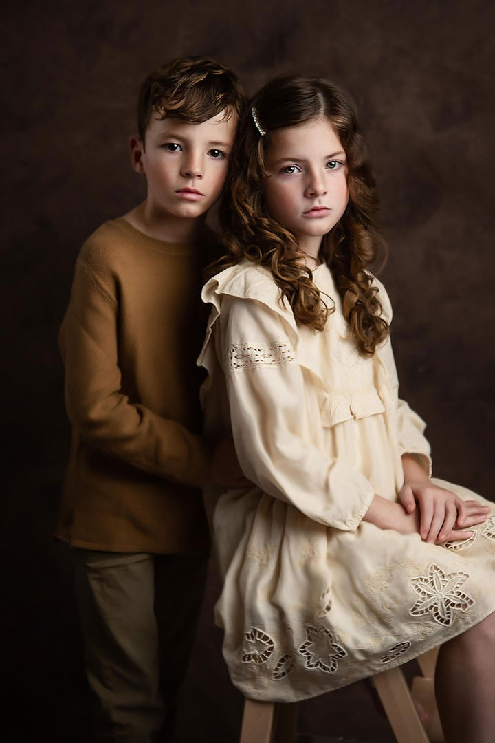 brother and sister in Child photography session Bradford