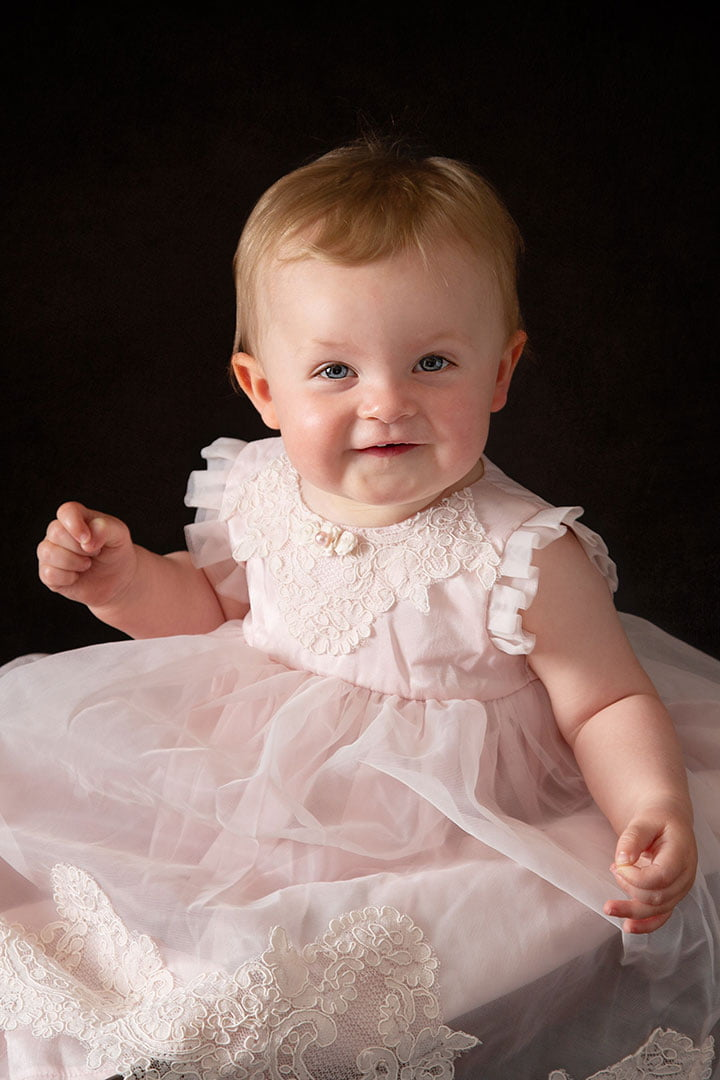 Baby photography Leeds  cute little girl in pink