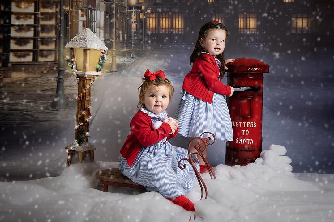 sisters posting to santa