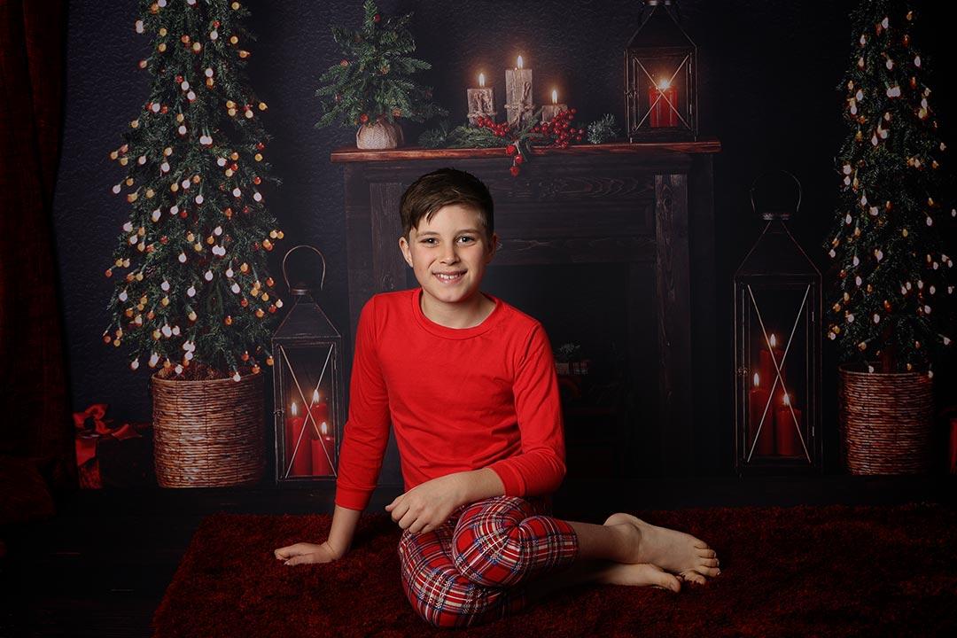 older boy in Christmas session