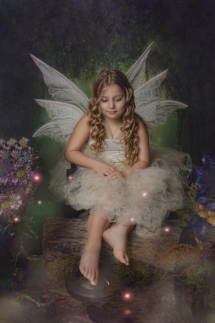 stunning little girl in fairy photography Leeds