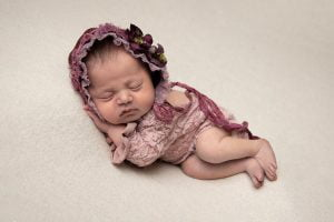 l Newborn photography of vintage outfit in Leeds