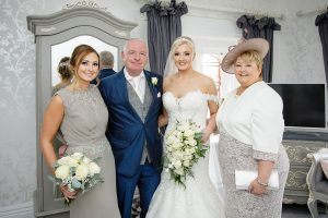 family together for wedding at Stirk house